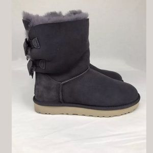 UGG Meilani Suede Wool Double Suede Bow Boots